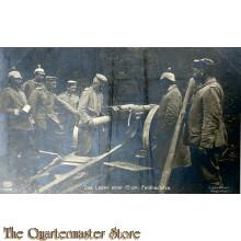 Mil Postkarte 1914  Das laden der 15 cm Feldhaubitze
