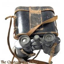 Pair of binoculars LUMINOR 12 x 40 + original case in leather, WW2