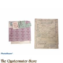2e distributie stamkaart Urecht V No A105038 met bonkaarten
