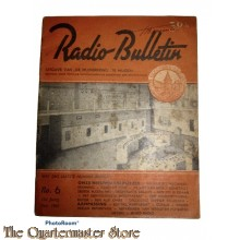 Radio Bulletin no 6 1943 de Muiderkring te Muiden in WW2