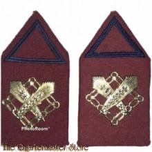 Kraag emblemen Intendance opleiding Reserve Officier