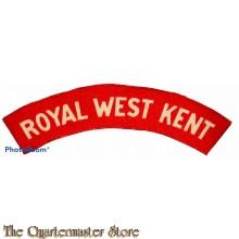Shoulder flash Royal West Kent (canvas)
