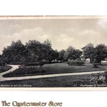 Prent briefkaart mobilisatie 1940 Legerplaats bij Oldebroek Paviljoen en tuin v/d officieren