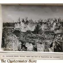 Press photo , WW1 Western front,  remains of village Tilloy