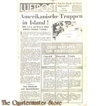 Flugblatt / Leaflet EH.510/8, Luftpost, Nr. 8, 9. Juli 1941