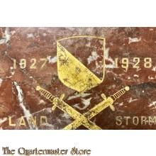 Marmeren plaquette Landstorm 1827-1928
