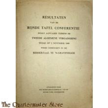 Book - Resultaten van de Ronde Tafel Conferentie zoals aanvaard tijdens de Tweede Algemene Veragadering welke op 2 november 1949 werd gehouden in de Ridderzaal te `s-Gravenhage.