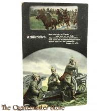 AnsichtsKarte (Mil. Postcard) Patriotic 1914  Artillerie Lied