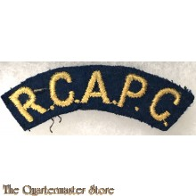 Shoulder title Royal Canadian Army Pay Corps (R.C.A.P.C.)
