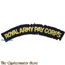Shoulder flash Royal Army Pay Corps (R.A.P.C.)