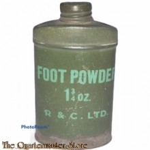 Groen Blikje voetpoeder 1 3/4 Oz.  (Green Tin footpowder 1 3/4 Oz.)