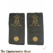 Schuifpassanten rangen  vaandrig MA Militaire Academie (Overhemd/regenjas)