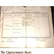 Extract uit het stamboek der Officieren Koloniaal Werf Depot 1861 Richard , Ferdinand Felix Gregorius