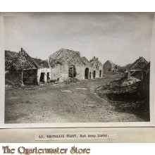 Press photo , WW1 Western front,  remains of village Inchy