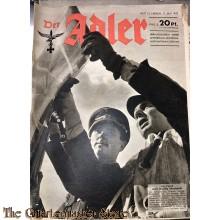 Zeitschrift Der Adler heft 10 ,11 mai 1943 (Magazine Der Adler No 10 , 11 may 1943)