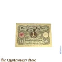 Darlehnkassenschein  Eine Mark 1920