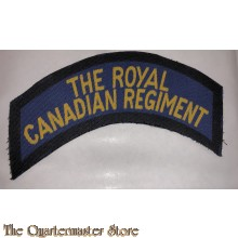 Shoulder title the Royal Canadian Regiment 1st Canadian Armoured Division (canvas)