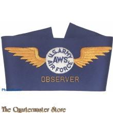 Brassard US Army AWS Air Force OBSERVER WW2