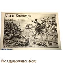 Militair Postkarte 14-18 Unser Kronprinz