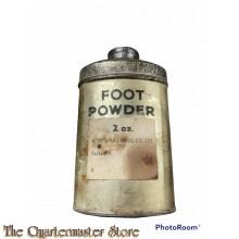 Goudkleurig Blik voetpoeder 1 3/4 Oz.  (Gold coloured 1 3/4 Oz. Tin footpowder)