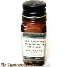 WW2 Bottle tablet water purification ABBOTT stocknr 51 T 1500 (WO2 Flesje waterzuiverings tabletten US Army)