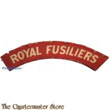 Shoulder flash Royal Fusiliers (canvas)