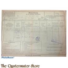 Abmeldung bei der polizeilichen Meldebehorde 1939 (Form for leaving city 1939)