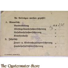 Ausweiss KDP Landesbund Hamburg Ortsgruppe Eilbeck-Hamm
