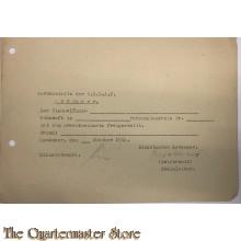 Ausweis Freistellung Einsatzstab der N.S.D.A.P. Zevenaar oktober 1944