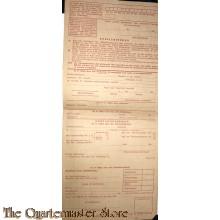Aanvraagformulier voor een schoenenbon 1944