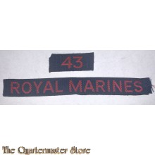 """Cash title"" Shoulder flash 43 Royal Marines"