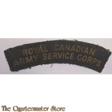 Shoulder flash Royal Canadian Army Service Corps RCASC (canvas)