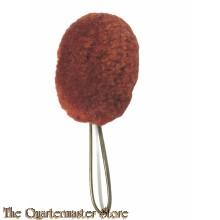 Pompon oranje/rood kolbak/shako 1880-1905