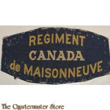 Shoulder flash Regiment de maisonneuve (canvas)