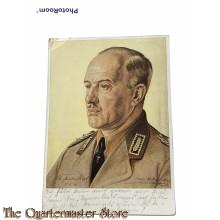 Postkarte Reichsarbeitsfuhrer Konstatin Hierl RAD