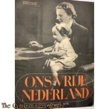 Ons vrij Nederland 1945 , Prinses Juliana met de kleine Margriet,  5e jrg no 10