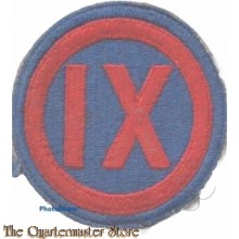 Mouwembleem 9th Corps (Sleeve patch 9th Corps)