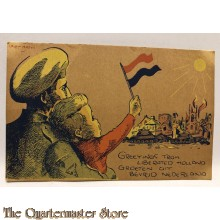 Ansicht / Postkaart Greetings from Liberated Holland 1945