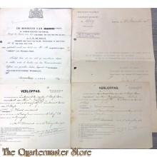 """4x Documenten H.M. torpedobootjager  """"Jakhals"""" 1905-1918"""