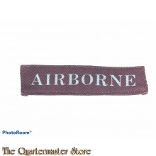 Shoulder title AIRBORNE canvas (modern)