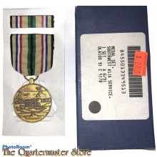 Medaille  US Army South West Asia service in doos (US Army South West Asia service medal, ribbon boxed)