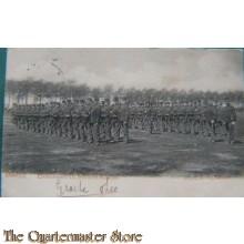 Prent briefkaart mobilisatie 1914 Kampen Exercitieveld v.h. Instructie Bataljon