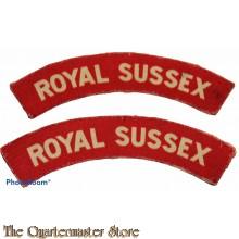 Shoulder flashes Royal Sussex (canvas)