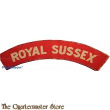Shoulder flash Royal Sussex (canvas)