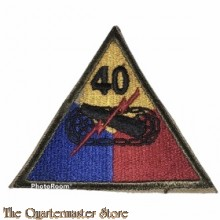 Mouwembleem 40th Armored Division (Sleevebadge 40th Armored Division)
