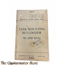 Manual TM9-719 Tank mounting Bulldozer M1 and M1A1