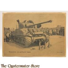 Postkaart Demonstratie van Geallieerde Wapens 1945