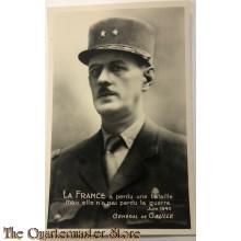 Postcard 1945 General de Gaulle