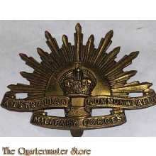 Cap badge Standard WW1 Rising Sun with slider