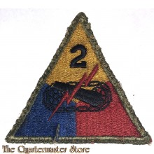 Mouwembleem 2e Armored Divisie (sleeve badge 2nd Armored Division)